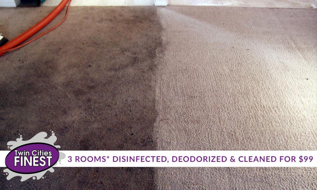 3 Room Carpet Cleaning Special Twin Cities Finest
